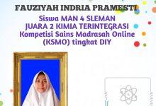 Photo of Fauziyah Siswi MAN 4 Sleman Raih Juara KSMO
